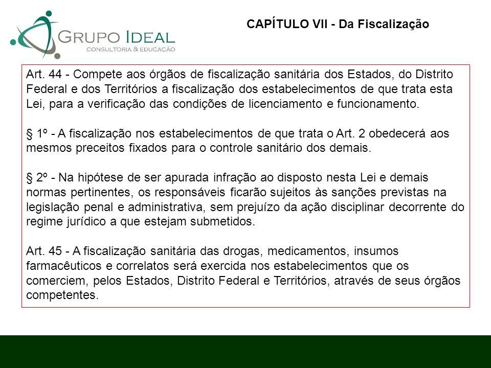 CAPÍTULO VII - Da Fiscalização