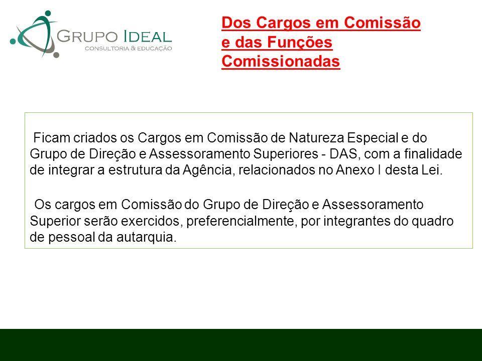 Dos Cargos em Comissão e das Funções Comissionadas
