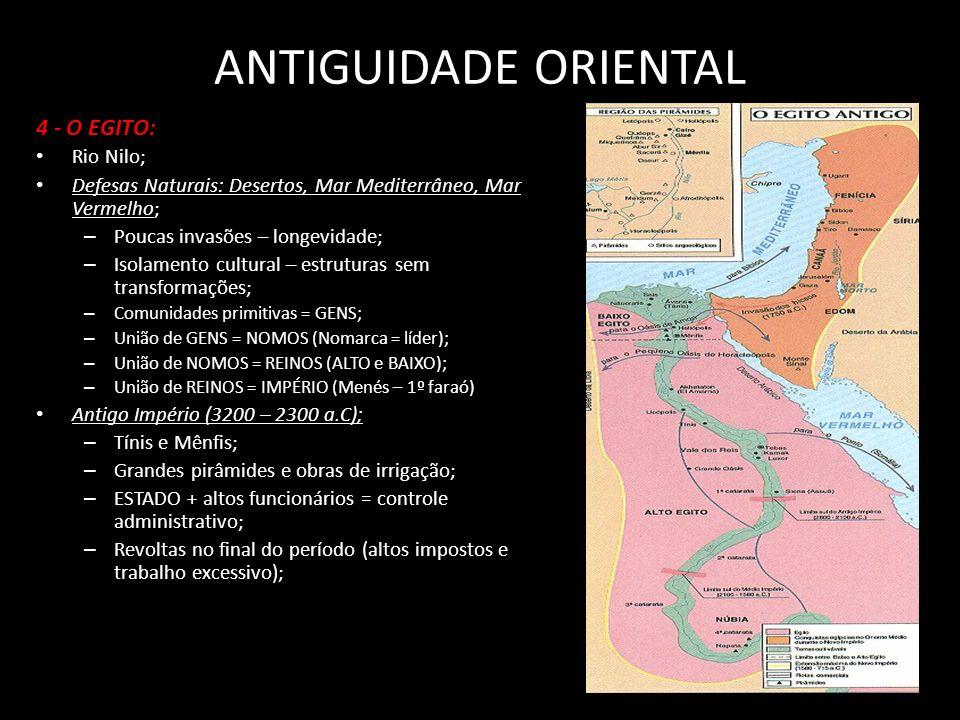 ANTIGUIDADE ORIENTAL 4 - O EGITO: Rio Nilo;