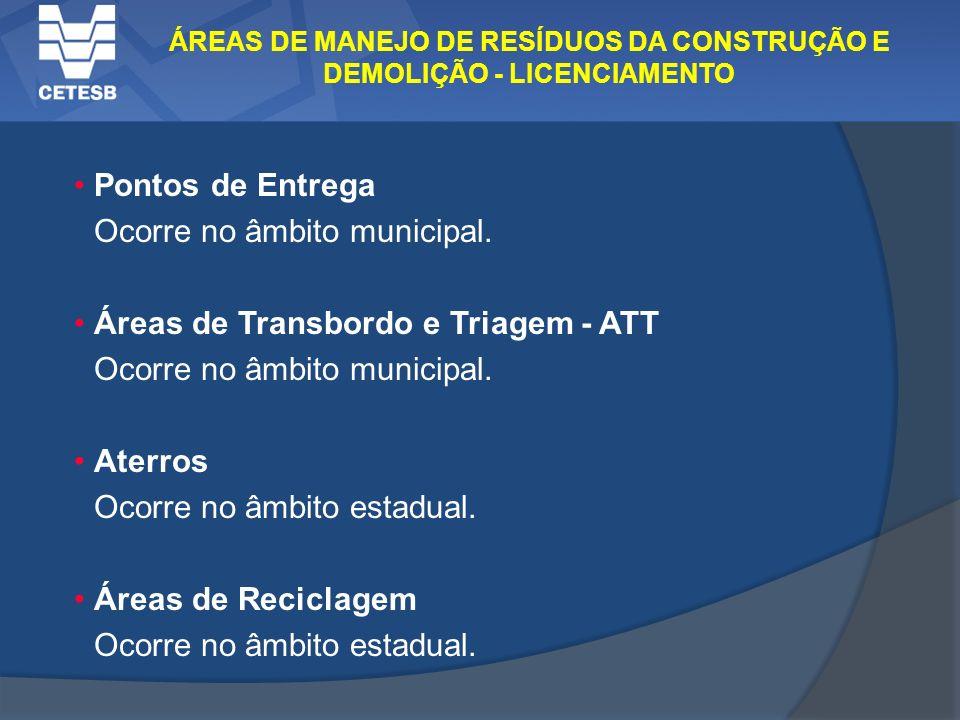 ÁREAS DE MANEJO DE RESÍDUOS DA CONSTRUÇÃO E DEMOLIÇÃO - LICENCIAMENTO