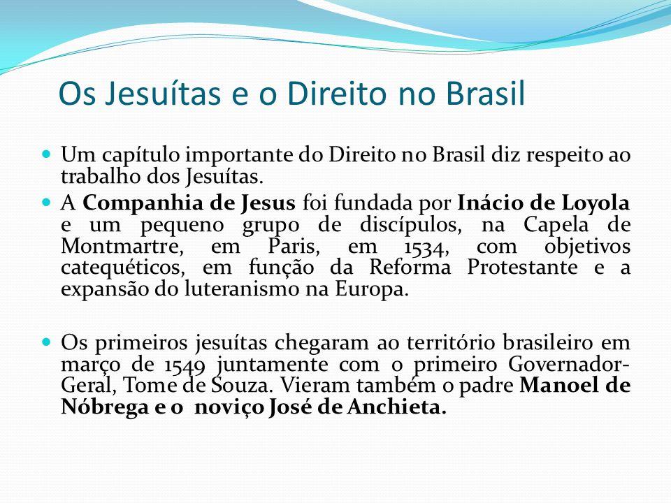 Os Jesuítas e o Direito no Brasil