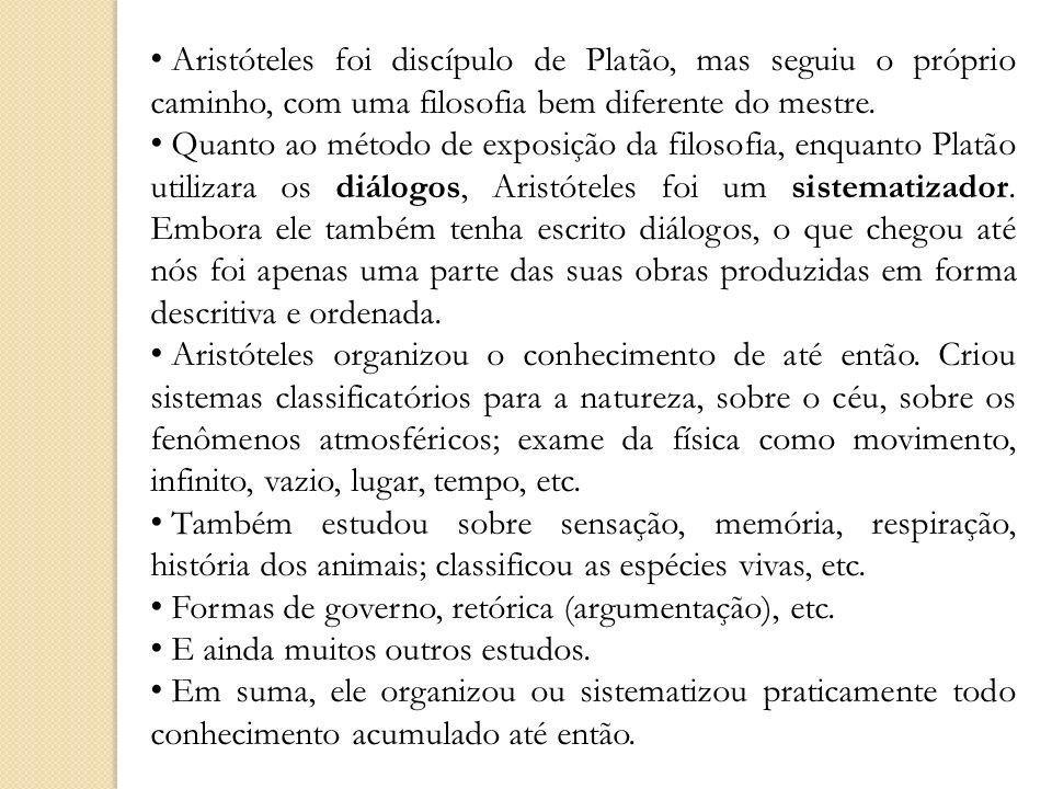 Aristóteles foi discípulo de Platão, mas seguiu o próprio caminho, com uma filosofia bem diferente do mestre.