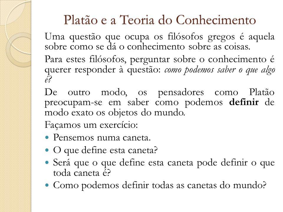 Platão e a Teoria do Conhecimento