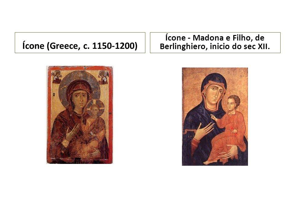 Ícone - Madona e Filho, de Berlinghiero, inicio do sec XII.