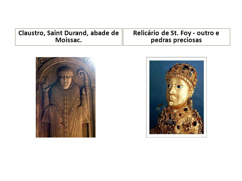 Claustro, Saint Durand, abade de Moissac.