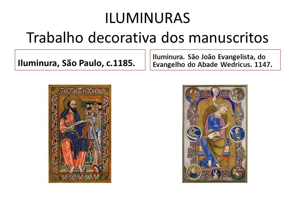 ILUMINURAS Trabalho decorativa dos manuscritos