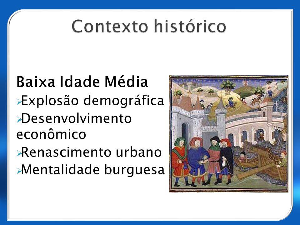 Contexto histórico Baixa Idade Média Explosão demográfica