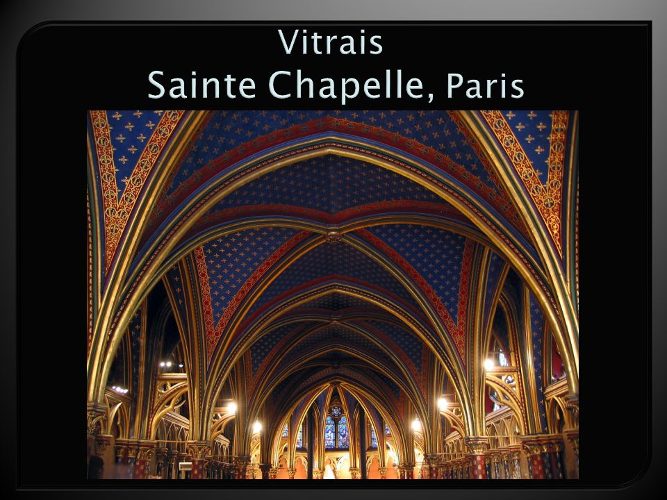 Vitrais Sainte Chapelle, Paris