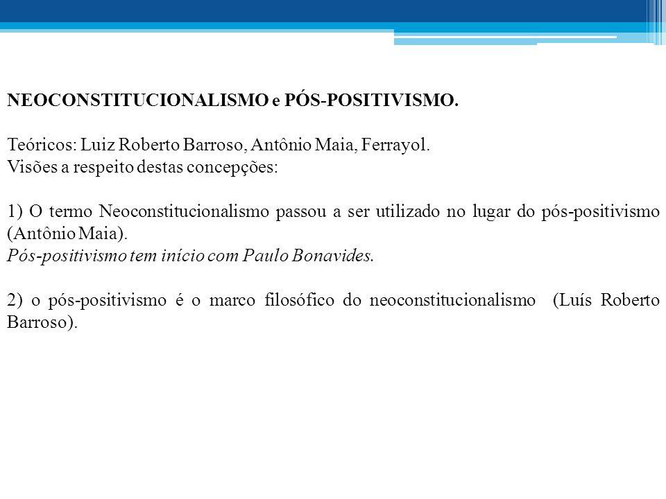 NEOCONSTITUCIONALISMO e PÓS-POSITIVISMO.