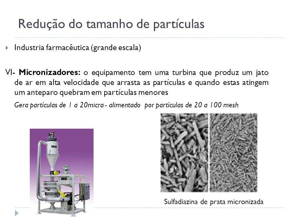 Redução do tamanho de partículas