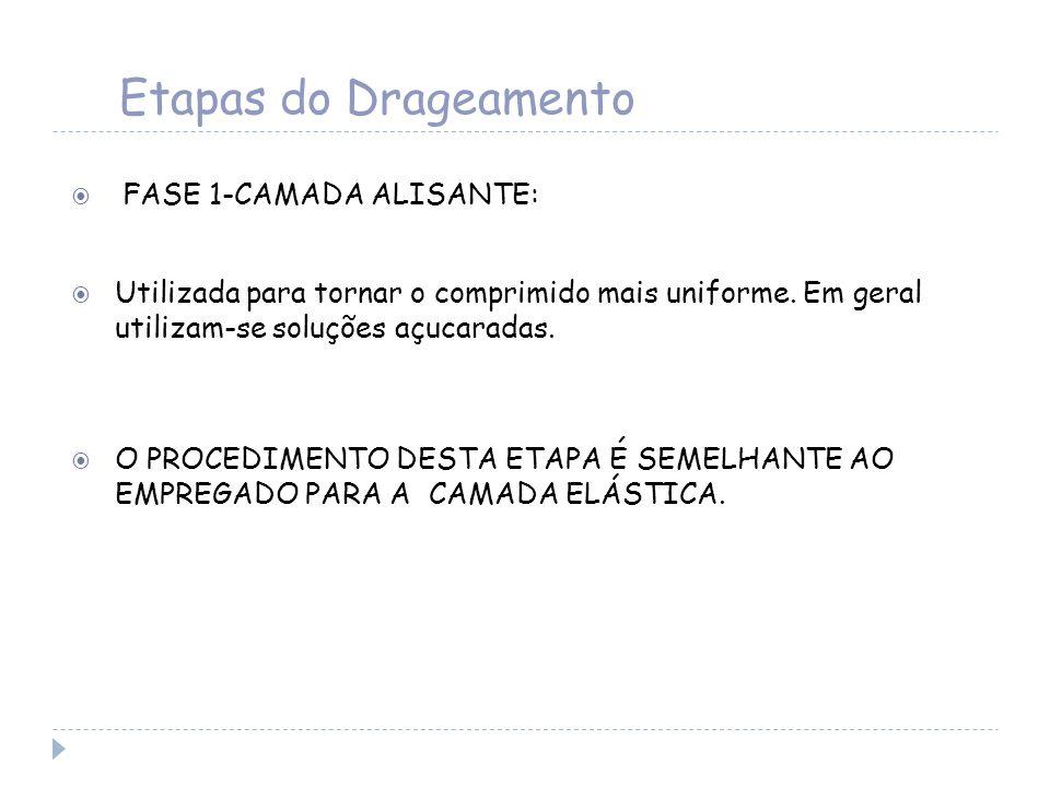 Etapas do Drageamento FASE 1-CAMADA ALISANTE: