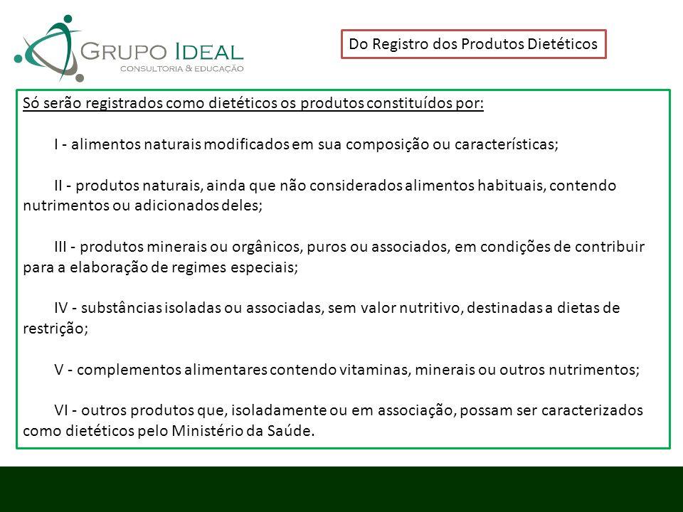 Do Registro dos Produtos Dietéticos