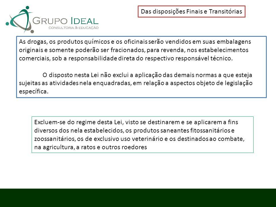 Das disposições Finais e Transitórias