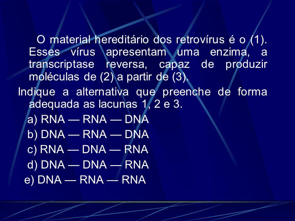 O material hereditário dos retrovírus é o (1)