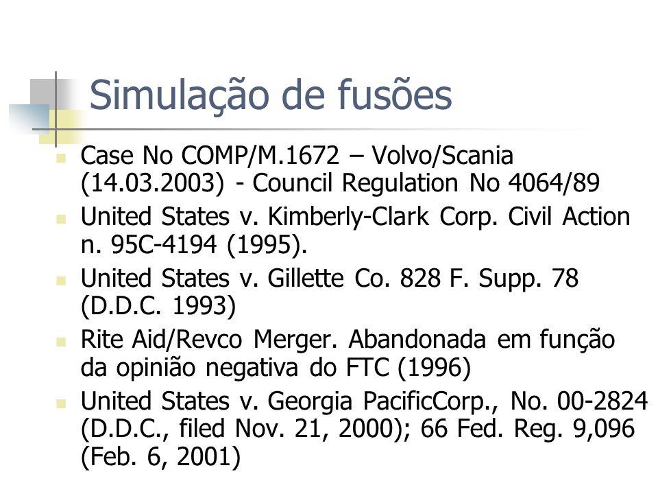 Simulação de fusões Case No COMP/M.1672 – Volvo/Scania (14.03.2003) - Council Regulation No 4064/89.