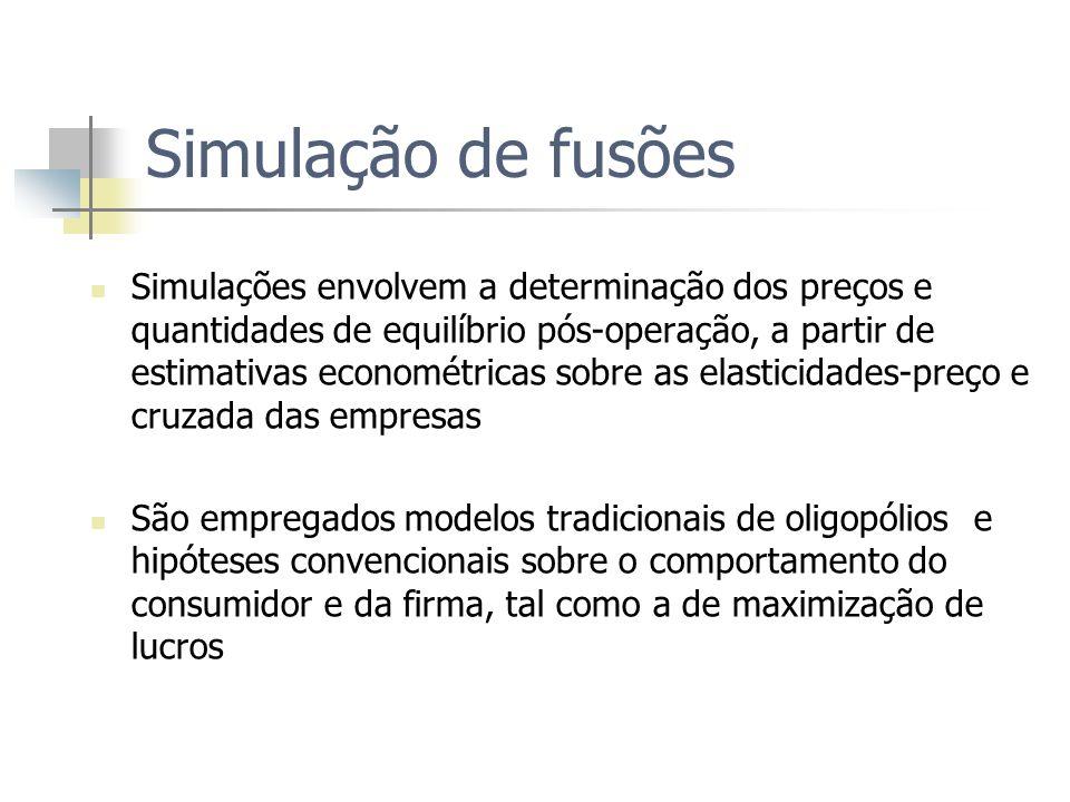 Simulação de fusões