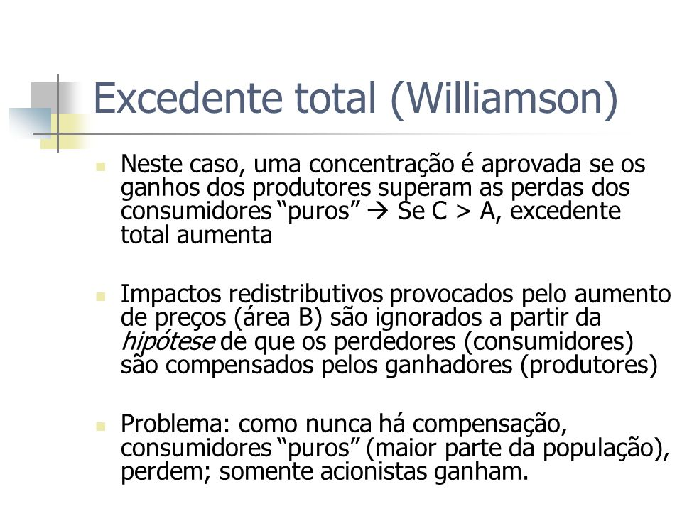 Excedente total (Williamson)