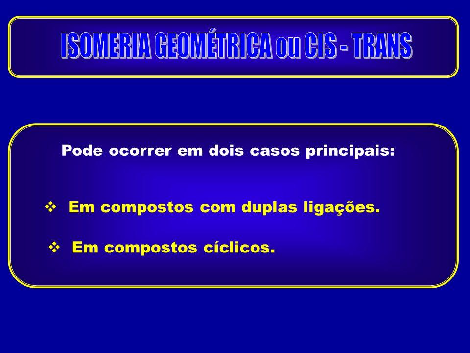 ISOMERIA GEOMÉTRICA ou CIS - TRANS