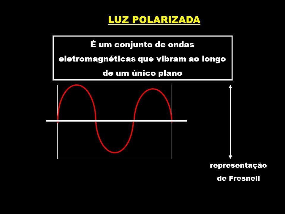 LUZ POLARIZADA É um conjunto de ondas eletromagnéticas que vibram ao longo de um único plano. representação.