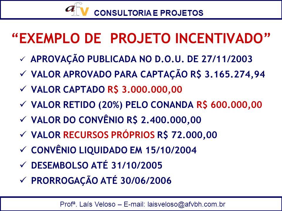 EXEMPLO DE PROJETO INCENTIVADO