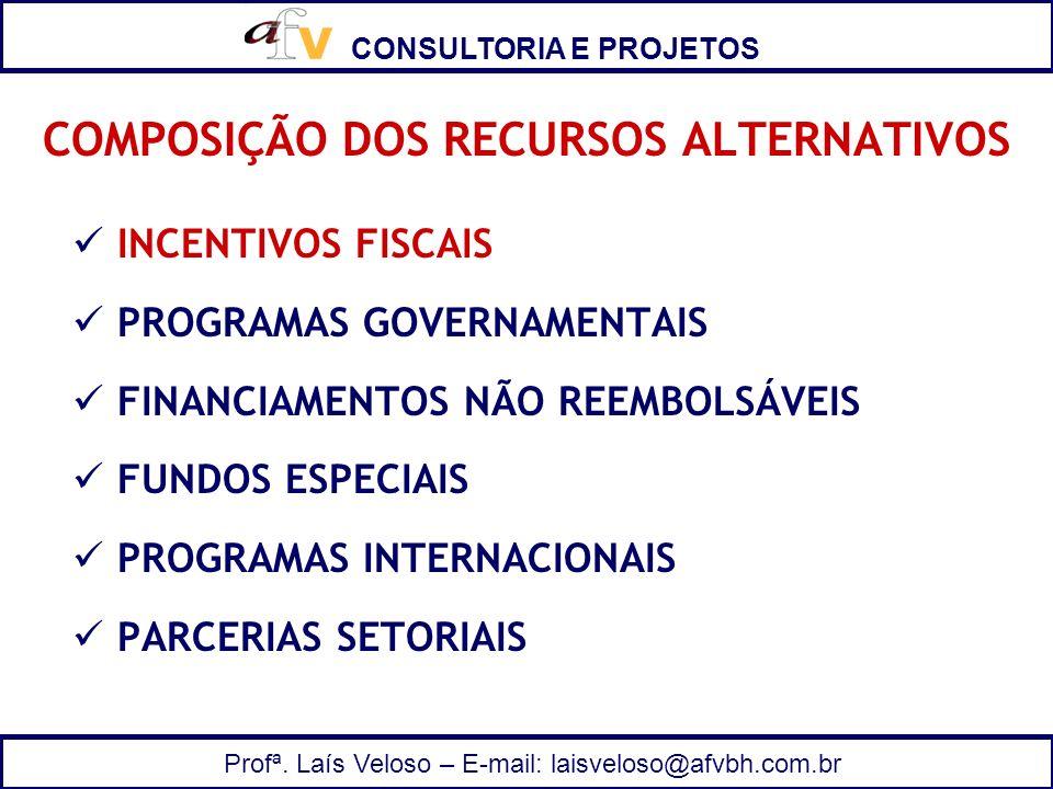 COMPOSIÇÃO DOS RECURSOS ALTERNATIVOS