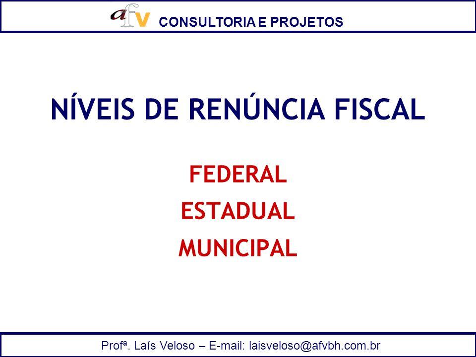 NÍVEIS DE RENÚNCIA FISCAL