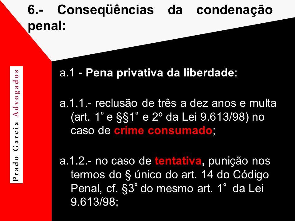 6.- Conseqüências da condenação penal: