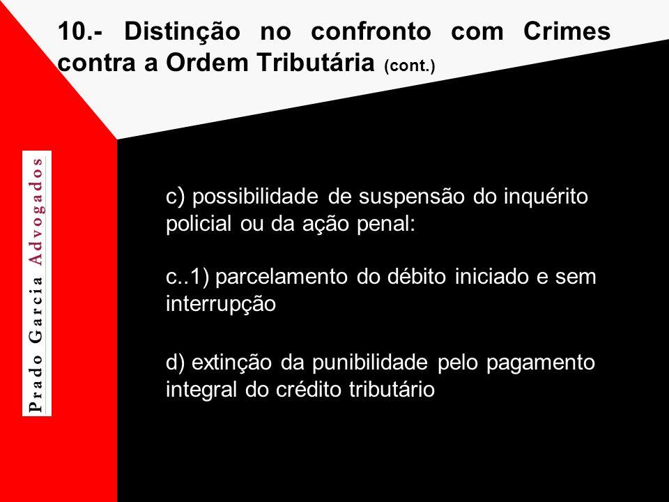 10.- Distinção no confronto com Crimes contra a Ordem Tributária (cont.)