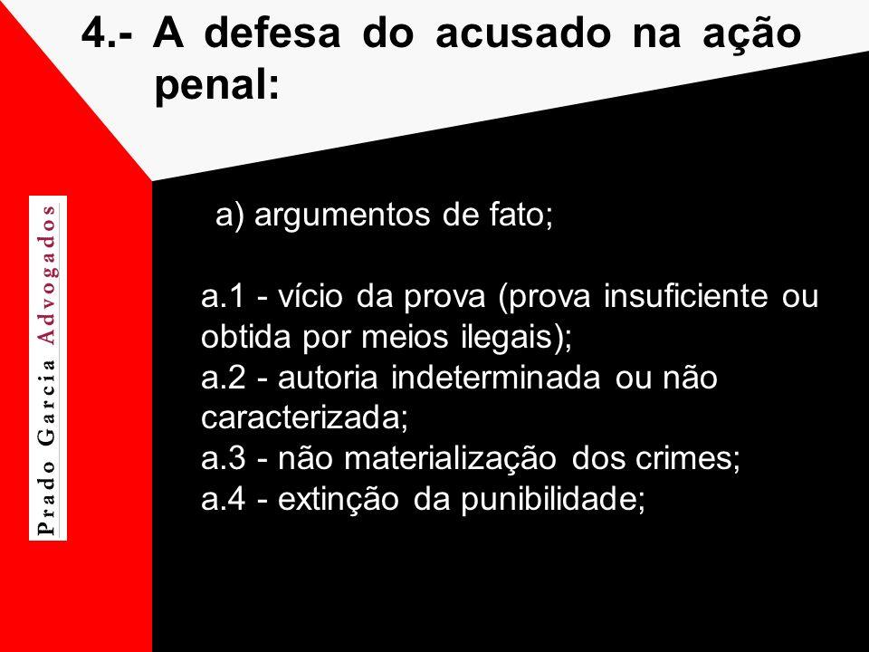 4.- A defesa do acusado na ação penal: