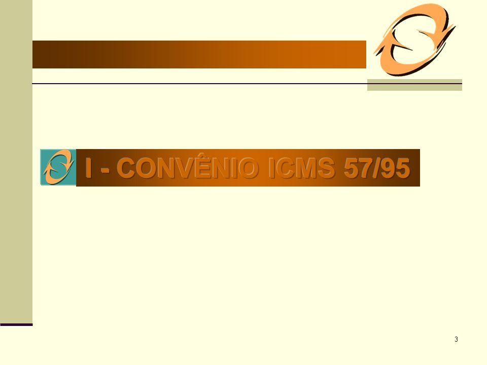 I - CONVÊNIO ICMS 57/95