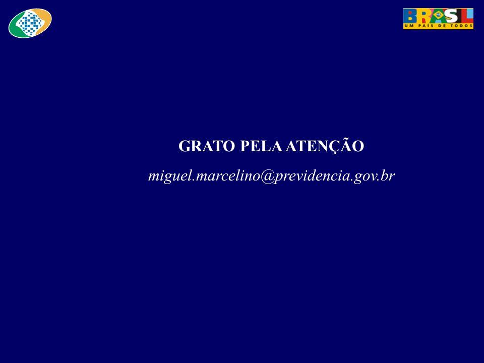 GRATO PELA ATENÇÃO miguel.marcelino@previdencia.gov.br