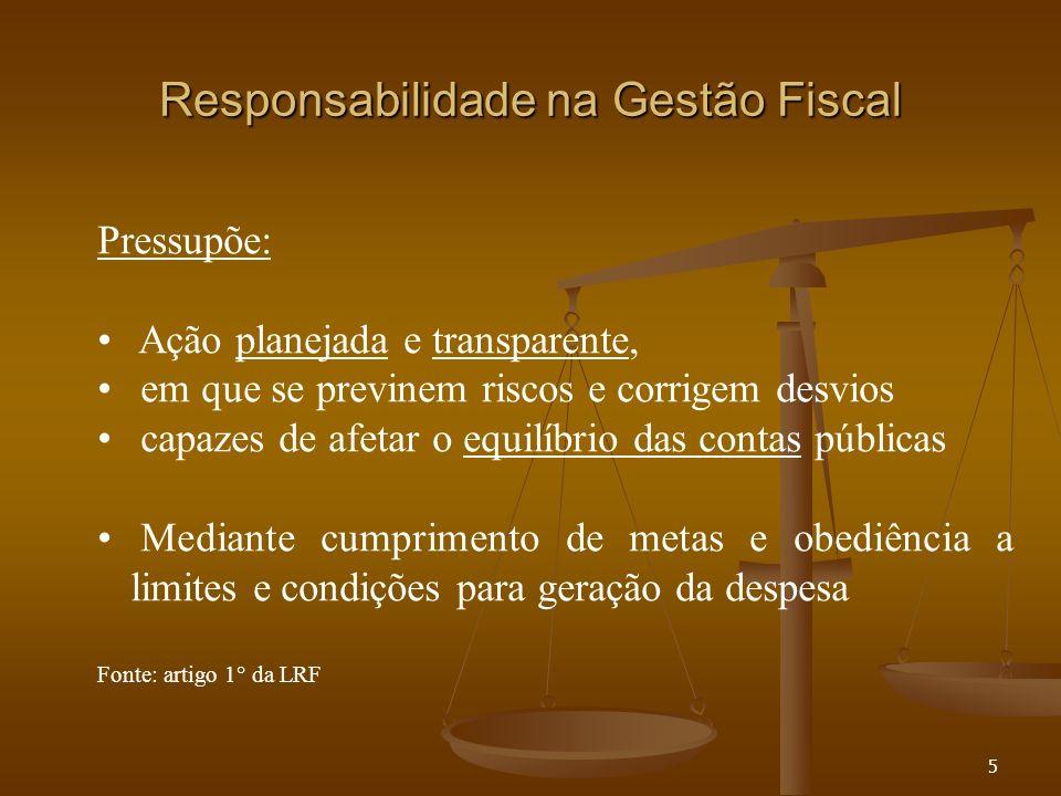 Responsabilidade na Gestão Fiscal