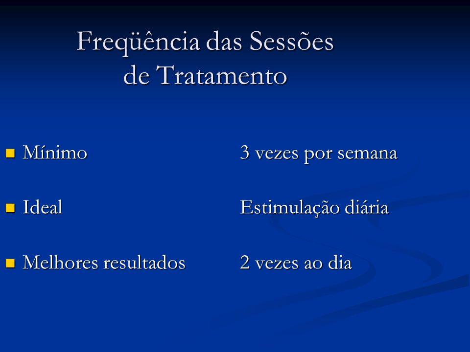 Freqüência das Sessões de Tratamento