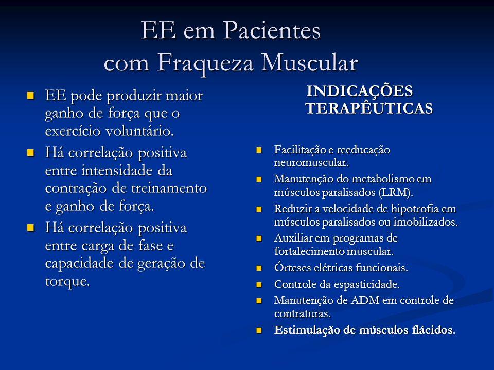 EE em Pacientes com Fraqueza Muscular