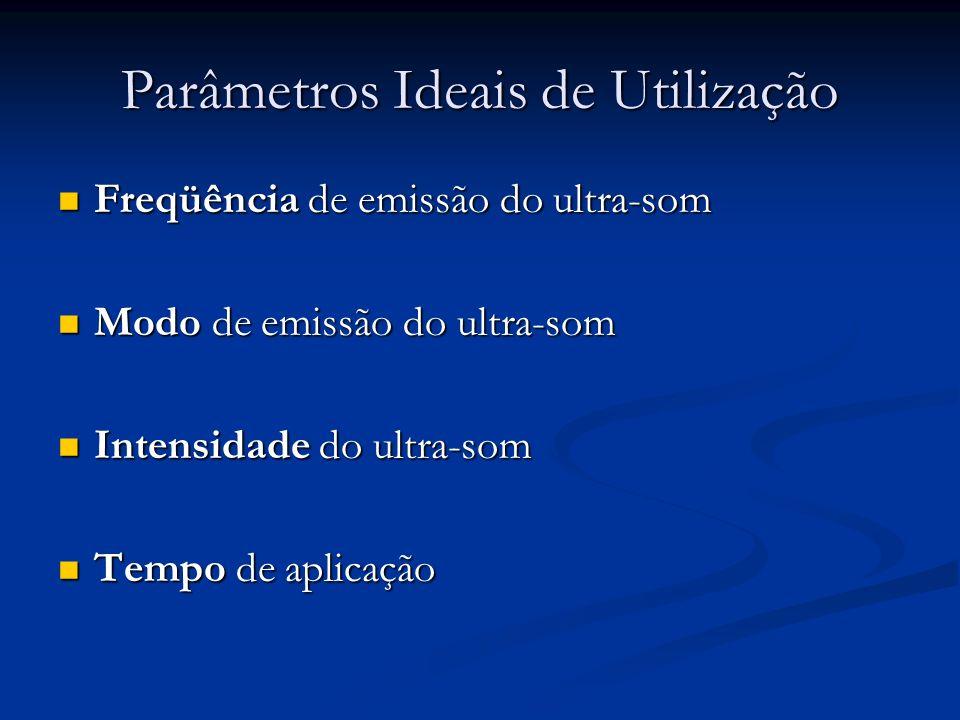 Parâmetros Ideais de Utilização