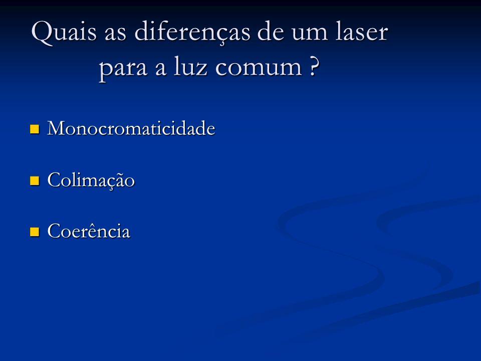 Quais as diferenças de um laser para a luz comum