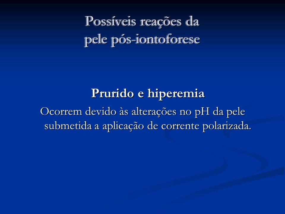 Possíveis reações da pele pós-iontoforese