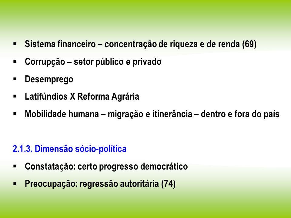 Sistema financeiro – concentração de riqueza e de renda (69)