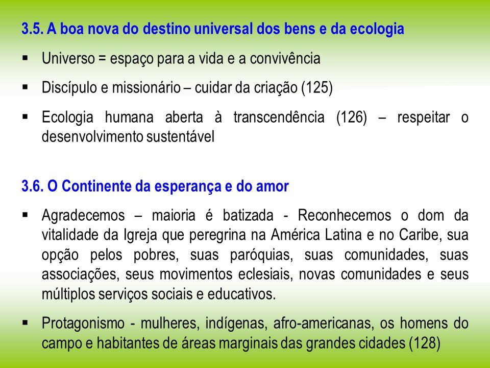 3.5. A boa nova do destino universal dos bens e da ecologia