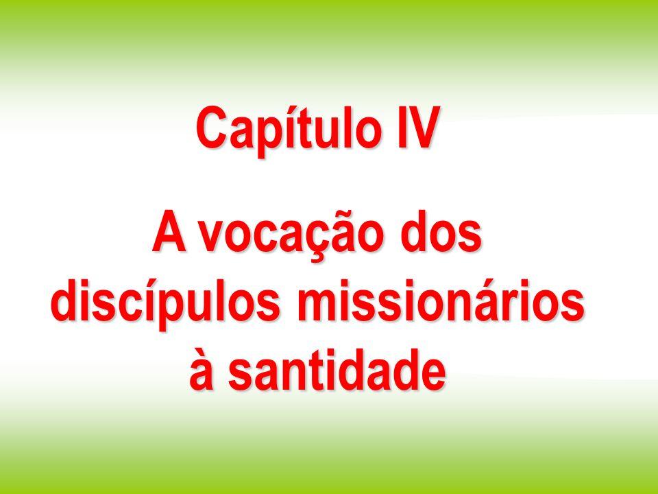 A vocação dos discípulos missionários à santidade