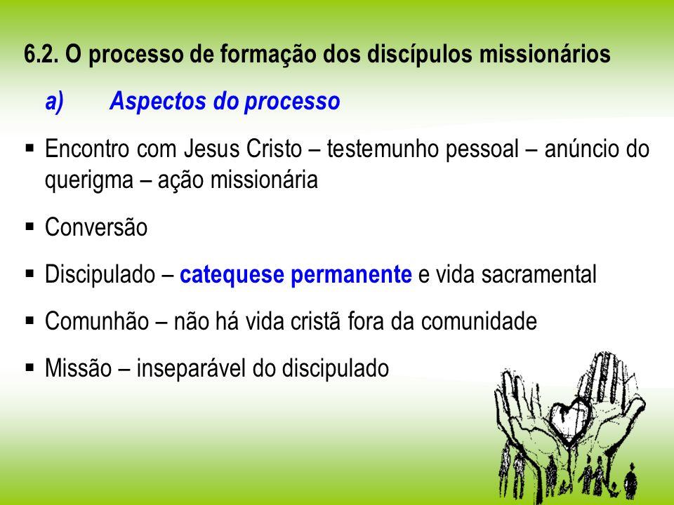 6.2. O processo de formação dos discípulos missionários
