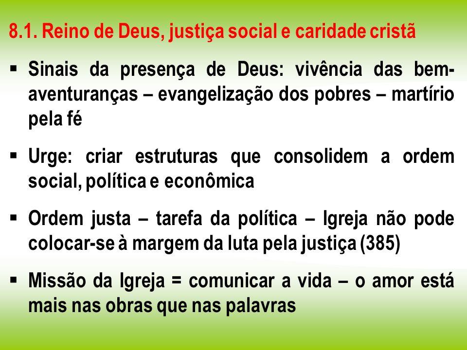 8.1. Reino de Deus, justiça social e caridade cristã