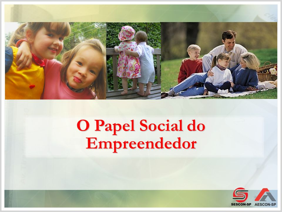 O Papel Social do Empreendedor