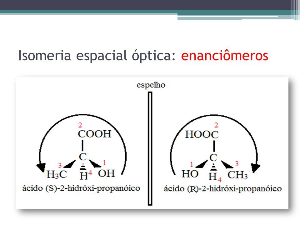 Isomeria espacial óptica: enanciômeros