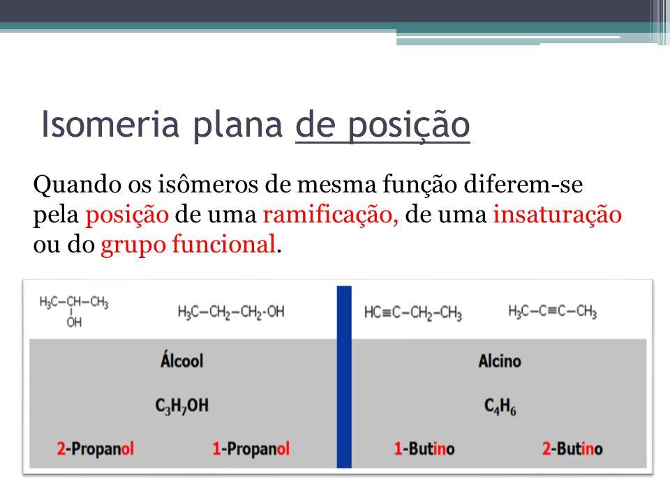 Isomeria plana de posição