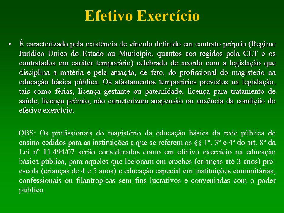 Efetivo Exercício