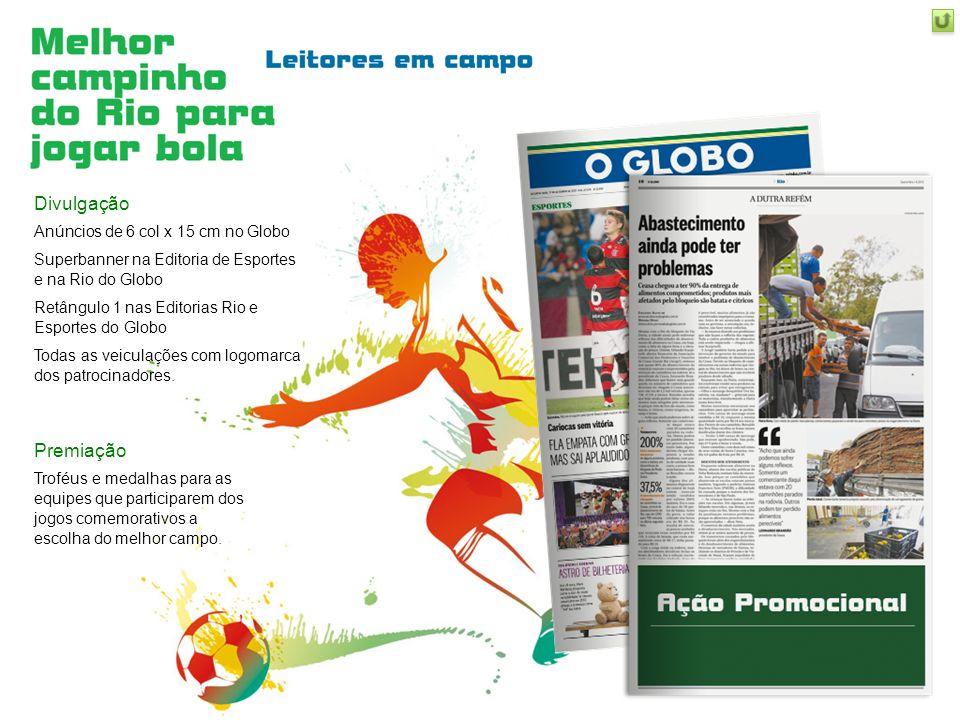 Divulgação Premiação Anúncios de 6 col x 15 cm no Globo