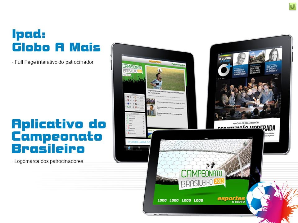 Full Page interativo do patrocinador