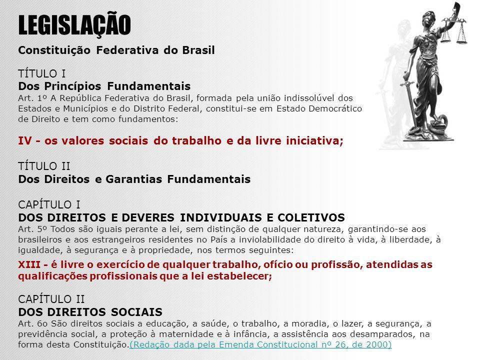 LEGISLAÇÃO Constituição Federativa do Brasil