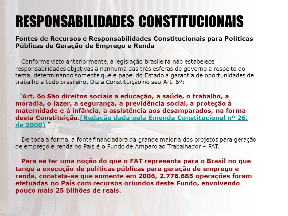 RESPONSABILIDADES CONSTITUCIONAIS